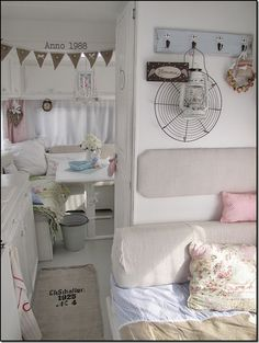 Camper interior: a lot prettier than all that plastic stuff they build into campers nowaday!