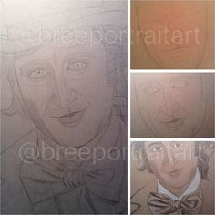 WIP from November 2015 of my Willy Wonka drawing!
