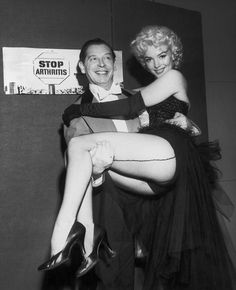 Milton Berle & Marilyn Monroe at Madison Square Garden, 1955. Mike Todd's Arthritis Benefit.