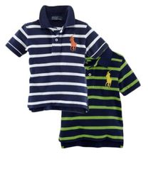 Ralph Lauren Infant Boys Big Pony Stripe Polo. Just like dad Diley!