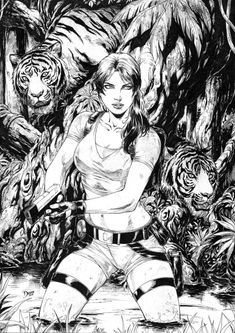 Lara Croft by Deilson Tom Raider, Tomb Raider Game, Tomb Raider Lara Croft, Comic Books Art, Comic Art, Tomb Raider Alicia Vikander, Mononoke Anime, Art Sketches, Art Drawings
