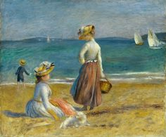 Auguste Renoir c1890 Figures on the Beach [1890]