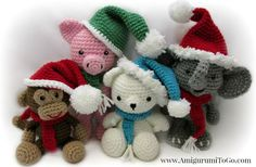 Amigurumi Christmas Hat and Scarf Video Tutorial Now on Youtube