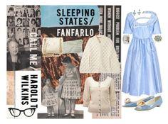 """fanfarlo"" by djalicat ❤ liked on Polyvore featuring Isaac Mizrahi, Rupert Sanderson, Monsoon, Betsey Johnson, Miss Selfridge, Prada, patent, pearls, blue and indie"