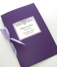 Embellished Booklet Wedding Program - Sample - Custom Colors on Etsy, $4.00