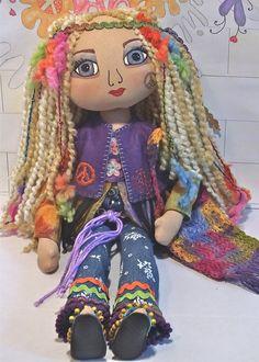 Handmade Cloth Art Doll  Amberley the by Marieanne Hodson of MyBestFriendDollsxxx on Etsy