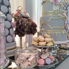 A tea party dessert table from Cake Opera for www.ColinCowieWeddings.com