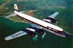 Vintage Delta DC-7 Airliner Postcard, Delta - One Of America's Pioneer Scheduled Airlines, Douglas DC-7 1954 - 1968