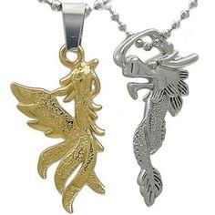 Kalung Couple Dragon Phoenix Gravita Phoenix, Dragon, Couples, Dragons, Couple