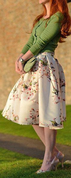 Cherry blossom skirt ==