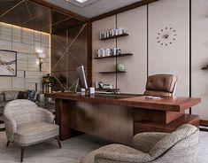 CEO Office – El Hamra Tower – Kuwait City on Behance – Luxury Office Designs Office Furniture Design, Office Interior Design Modern, Small Office Design, Office Table Design, Corporate Office Design, Home Office Design, Office Cabin Design, Office Interior Design, Office Design