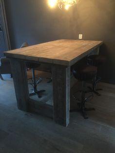 Steigerhouten balken tafel/bar