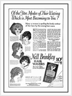 1922 Nell Brinkley Girl Look with Nell Brinkley Hair Wavers!
