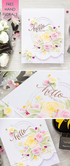 Create the look of hand painted flowers with WPlus9 Free Hand Florals. For details and video tutorial, visit http://www.yanasmakula.com/?p=54884