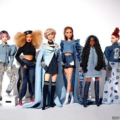 """IT'S BARBIE + MARNIXMARNI! We've teamed up with stylist and creative director Marni Senofonte (@marnixmarni), known for her work with pop culture's leading fashion icons, to create the ultimate style squad! """"It's been an extraordinary experience seeing my vision come to life through Barbies of different sizes and colors, all looking fly!"""" says Marni. Stay tuned for more!   #barbie #barbiestyle"""