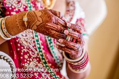 Bride's mehndi, henna at Mahwah Sheraton - Indian Wedding. Best Wedding Photographer PhotosMadeEz, Award winning photographer Mou Mukherjee. Along with Henna for All - Monita Bijoria Featured in Maharani Weddings.