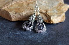 Rhinestone and Marcasite Art Deco Dangle by TheTwoWickedMagpies, $20.00