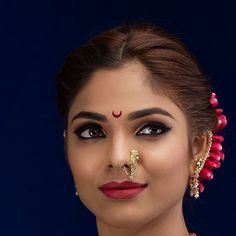 Marathi Nath, Marathi Wedding, Cute Faces, Septum Ring, Indian, Makeup, Rings, Artist, Instagram Posts