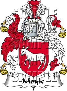 Moyle Family Crest apparel, Moyle Coat of Arms gifts