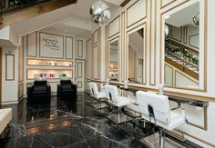 Located in the heart of London's West End, Rush Hair's new flagship salon was designed to epitomise the glamour of a bygone era.