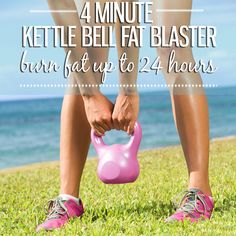 4 Minute Kettle Bell Fat Blaster - Burn Fat Up To 24 Hours! #4minuteworkout #kettlebell #fatblaster
