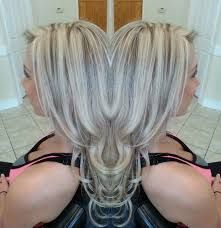 Image result for platinum hair with brown lowlights