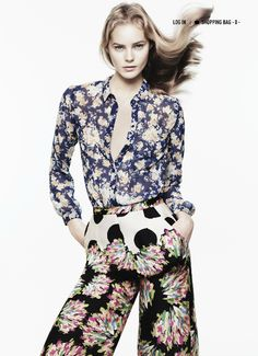 i love the mixed flower prints
