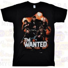 HE WANTED BAND AUTHENTIC MERCHANDISE BLACK T-SHIRT #TheWanted #GraphicTee #BoyBand