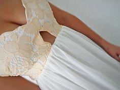 SheIn.com white lace maxi dress