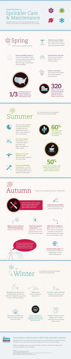 Infographic Seasonal Guide to Sprinkler Care & Maintenance | Infographics Creator
