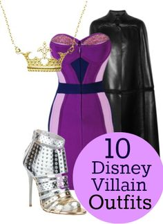 10 Disney Villain Outfits for the Real World - I would choose cheaper options obviously. Love the ideas though!