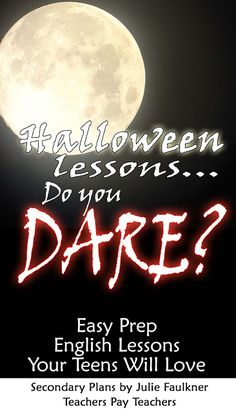 Faulkner's Fast Five: Halloween Lesson Ideas for Middle or High School T...