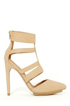 Shoe Cult Catania Pump - Nude