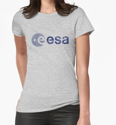 """European Space Agency "" Womens Fitted T-Shirts by Lidra 