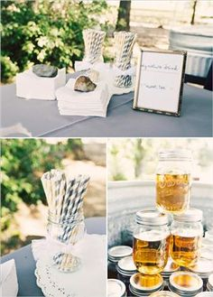Blue/White Vintage Style Paper Straws. Can be purchased online in bulk or at display and costume supply.