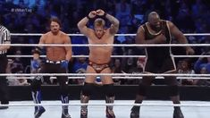 LOL this is awesome! AJ Styles, Chris Jericho and Mark Henry Wrestling Posters, Men's Wrestling, Wrestling Videos, Wrestling Superstars, Aj Styles Wwe, Wwe Funny, Hilarious, Usos Wwe, Wwe Gifs