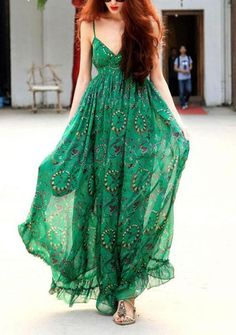 http://www.trendzystreet.com/clothing/dresses  - Women's fashion printing strapes chiffon bohemian dresses online - vessos.com
