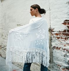 Summer White Shawl