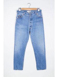 RE/DONE   X Levis High Rise Ankle Crop Jean - Light Blue   MYCHAMELEON.COM.AU