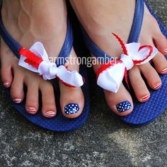 4th of July nail art by Amber Armstrong...China Glaze First Mate (blue), CG White on White, and red striper polish -- Instagram@armstrongnails