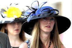 Kentucky Derby 2012  Spring bonnets:   Kentucky Derby fans wear their traditional hats.