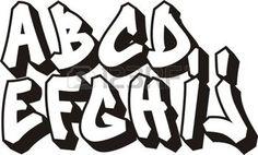 alphabet calligraphie: alphabet police vectorielle graffiti Illustration
