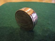 HANDCRAFTED IRELAND LARGE PENNY COPPER COIN SNUFF BOX PRE-DECIMAL