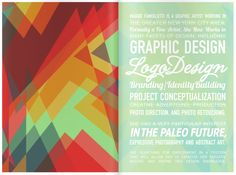 """Genius self-branding! Visual Identity by Maggie Famiglietti, via Behance. Colorful """"elevator speech"""" turned into typography. Too bad about the typos, though. Typography Poster, Typography Design, Flyer Design, Design Resume, Resume Layout, Branding Design, Design Art, Print Design, Photoshop Projects"""