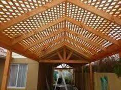 Resultado de imagen para cobertizos de fierro metal Deck With Pergola, Pergola Patio, Gazebo, Backyard Plan, Backyard Shade, Garden Living, Garden Projects, Rustic Wood, Canopy