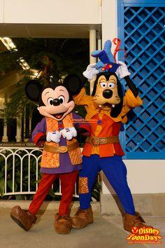 HKDL 10th Happily Ever after 2015 Mickey & Goofy グリーティング ミッキー・アンド・ザ・ワンダラス・ブック ミッキーマウス グーフィー