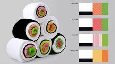 ※食べられません。巻き寿司に変身するタオル