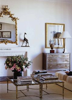 Recreate Lee Radziwill's Paris apartment with  elegant finds from Scully & Scully http://blog.scullyandscully.com/2013/09/12/recreate-lee-radziwills-paris-apartment/