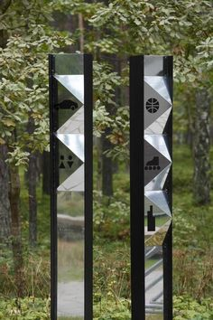 DZINTARI Forest Park, composite panels with polished aluminium surface