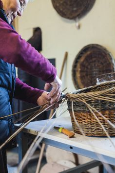 Growing willow on her farm in Co Kildare, Kathleen McCormick has found a fourth career as a skilled basketmaker. Irish Design, Basket Weaving, Career, Carrera, Freshman Year